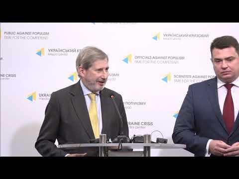 Press briefing of Commissioner Johannes Hahn and NABU Director Artem Sytnyk (09.11.2018)